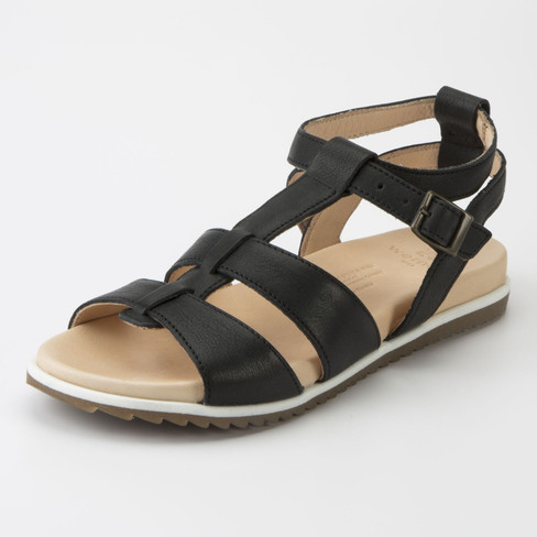 Sandale, schwarz 40