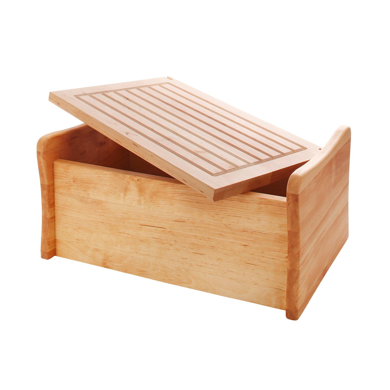 brotkasten mit abnehmbarem schneidebrett. Black Bedroom Furniture Sets. Home Design Ideas