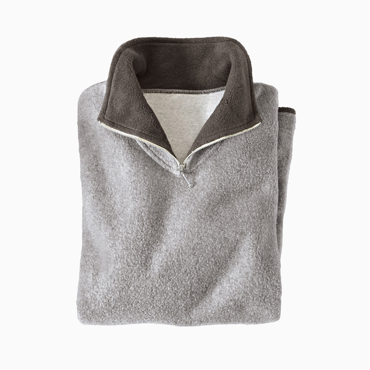 Fleece-Troyer, grau/anthrazit