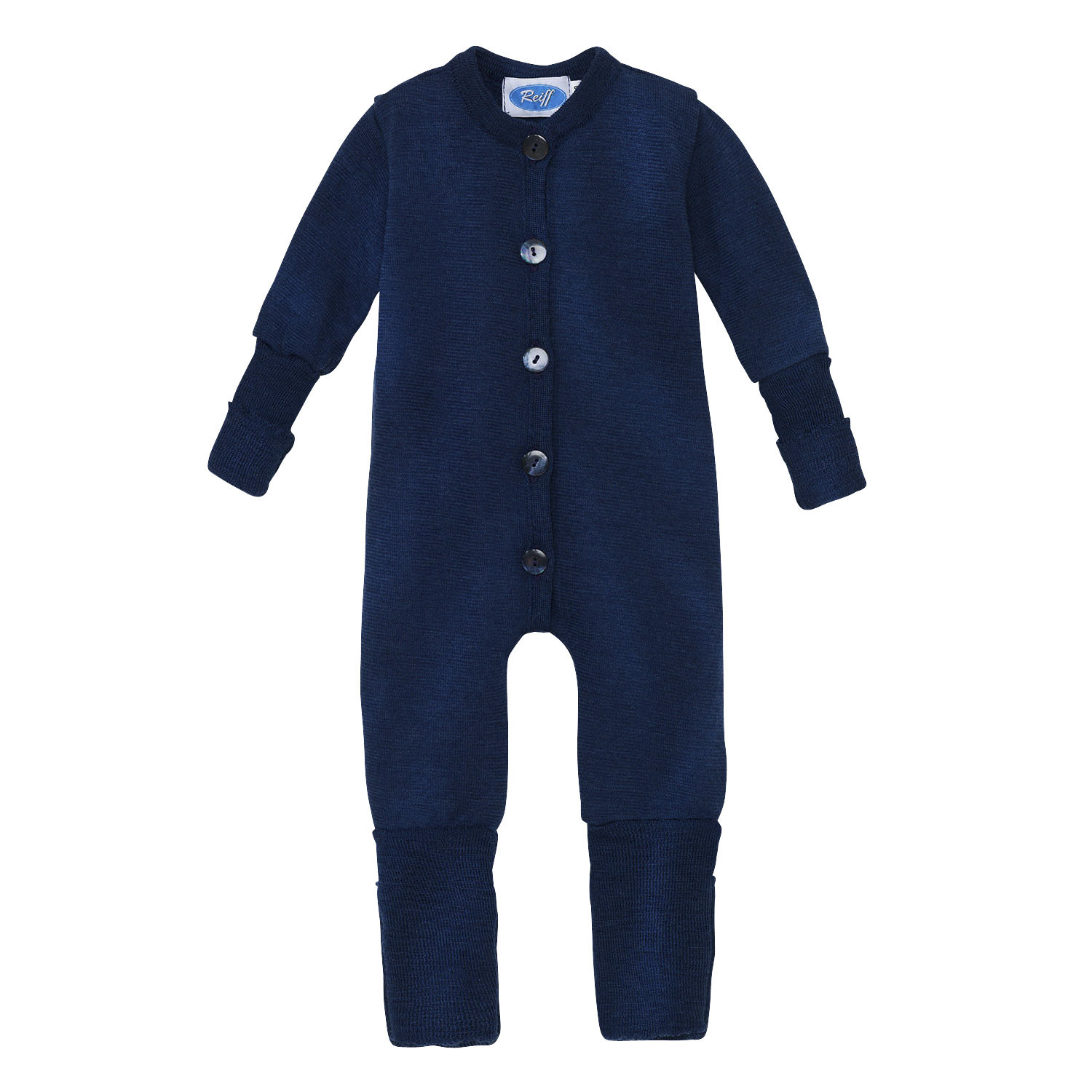 Wolle/Seide-Overall, blau