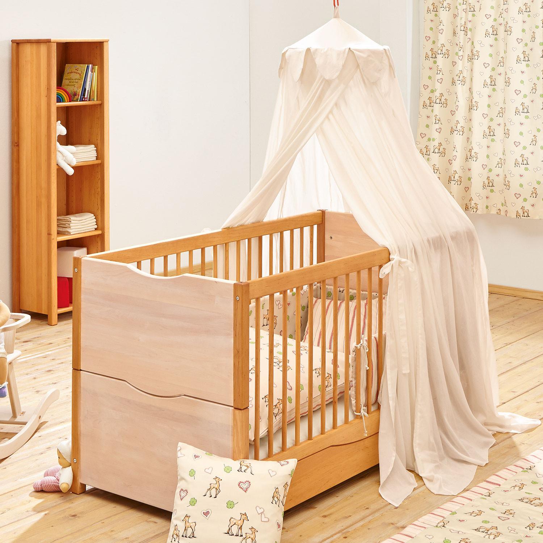 kinderbett leon aus massivem erlenholz natur wei. Black Bedroom Furniture Sets. Home Design Ideas