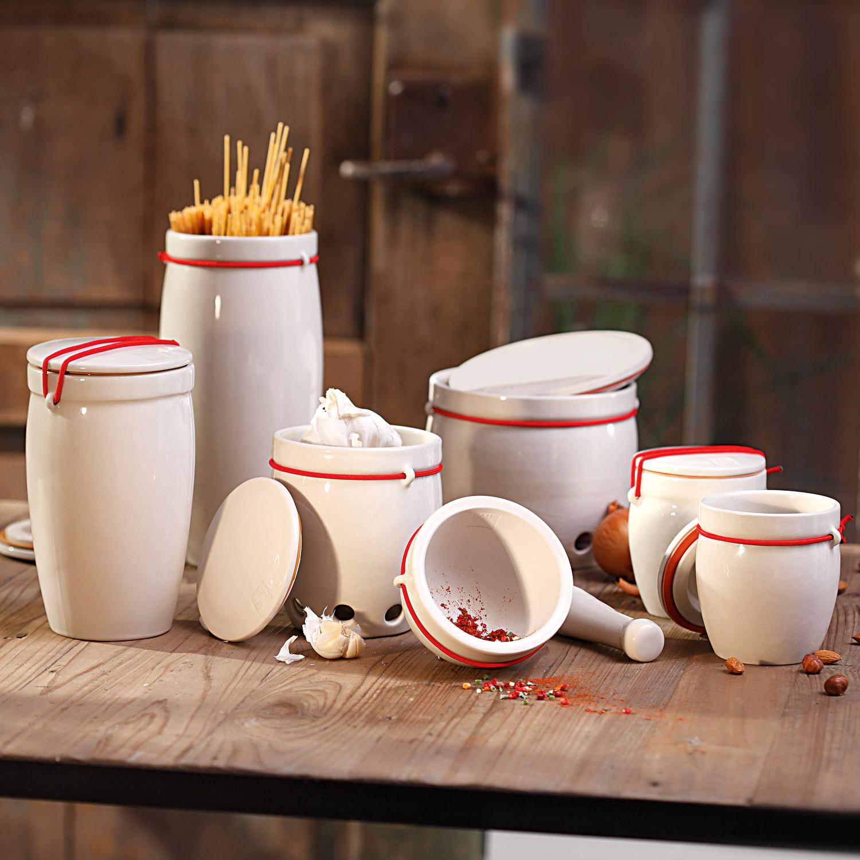 kleine keramik vorratsdosen 2er set creme. Black Bedroom Furniture Sets. Home Design Ideas