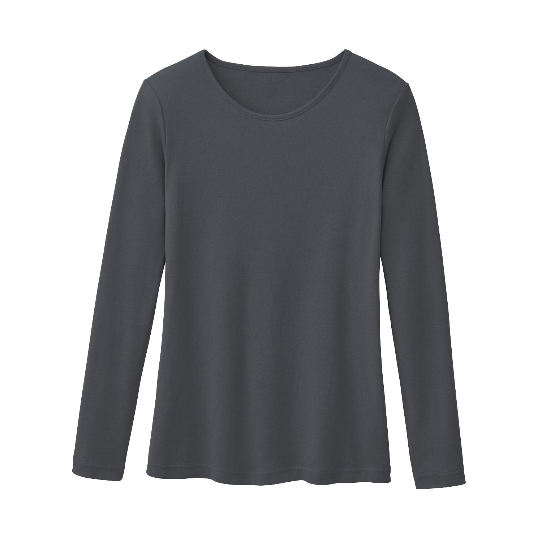 Rundhalsshirt aus Bio Baumwolle, schiefer from Waschbär