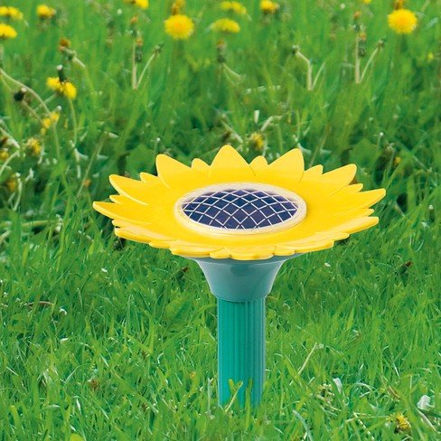 Solargerät ´´Wühltierfrei´´ in Sonnenblumenform