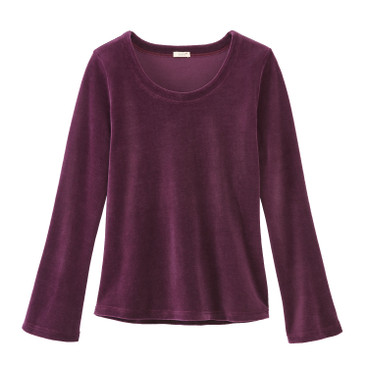 Nicki-Shirt, Langarm aus Bio-Baumwolle, purple