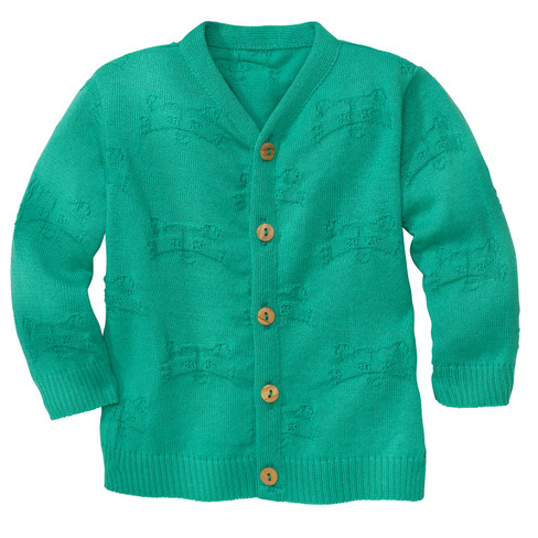 Strickjacke, jade