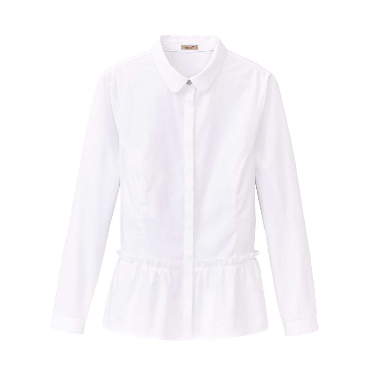 Gerüschte Bluse aus Bio Baumwolle, weiß from Waschbär