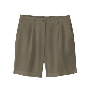 Short in Bundfaltenform aus TENCEL™, oliv