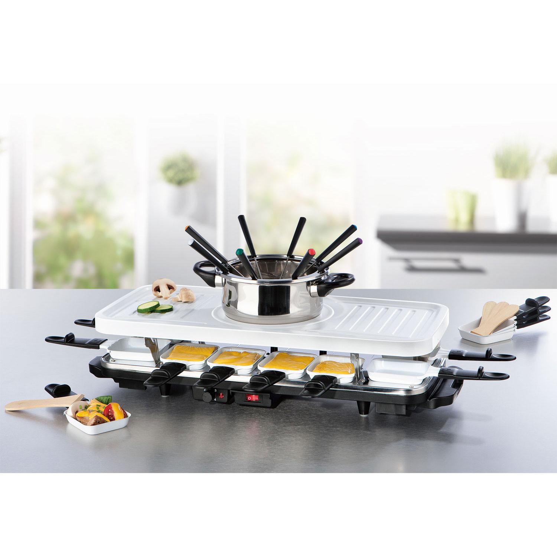 raclette fondue grill trio mit keramischer antihaft beschichtung modell xj 6k114c0 ds. Black Bedroom Furniture Sets. Home Design Ideas