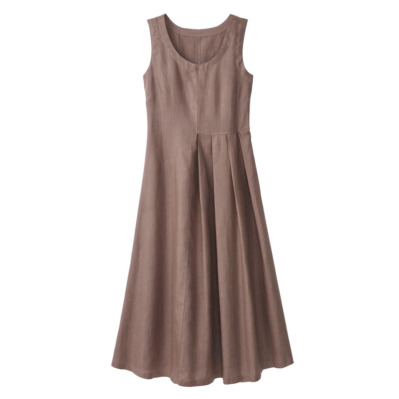 Leinenkleid taupe - Stylische Kleider für jeden tag