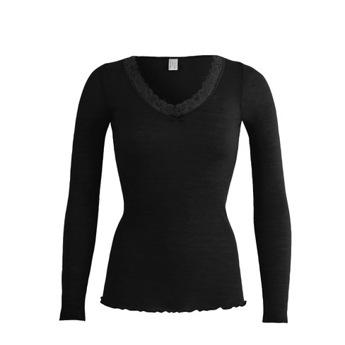 Langarm-Shirt, schwarz 38