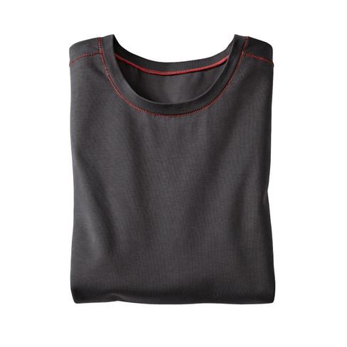 Langarm-Shirt, schiefer XXL