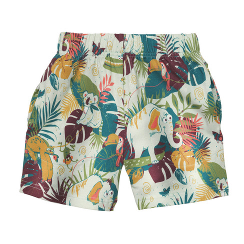 Shorts, mint-gemustert