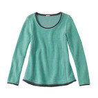 Fleece-Pullover 1/1A, jade