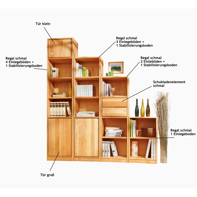 schubladenelement schmal regal system raumwunder. Black Bedroom Furniture Sets. Home Design Ideas