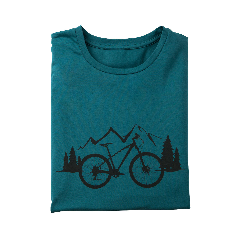 T-Shirt mit Fahrrad-Motiv aus Bio-Baumwolle, atlantik from Waschbär