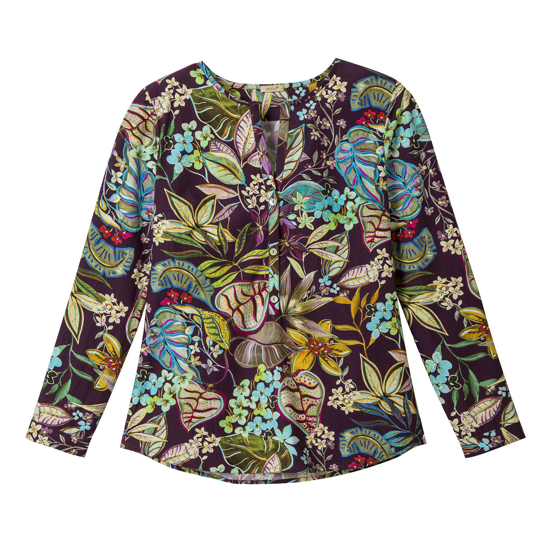 Tunika mit floralem Print aus Bio-Baumwolle, pflaume-gemustert from Waschbär