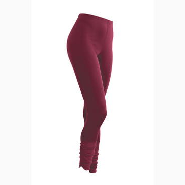 7/8 Leggings aus Bio Seide, bordeaux