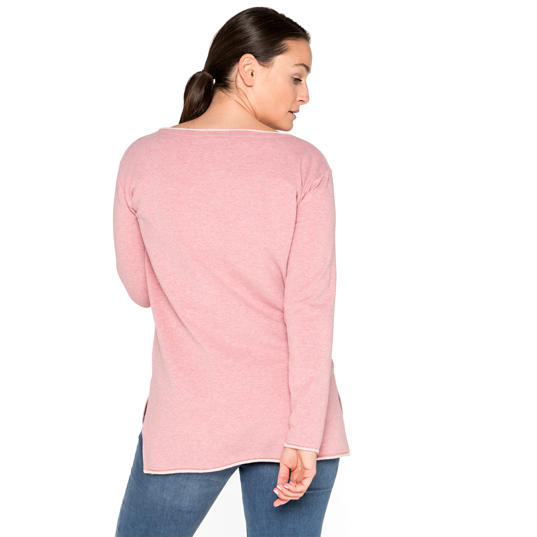 Sweatshirt aus Bio-Baumwolle, himbeere-melange from Waschbär