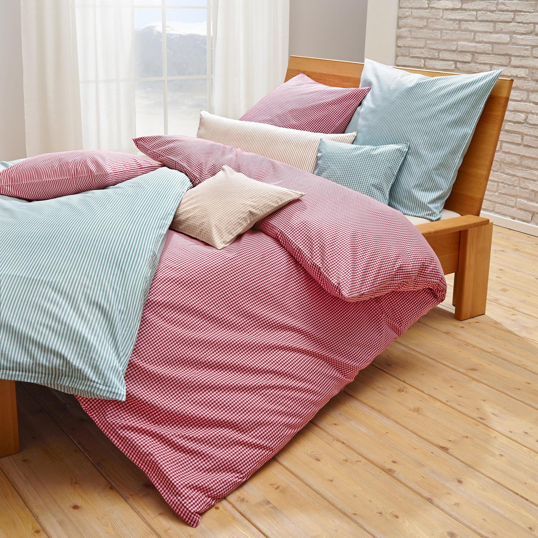 perkal-bettwäsche-programm karo, pistazie-weiß - Nachhaltige Und Umweltfreundliche Schlafzimmer Mobel Und Bettwasche