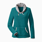 Fleece-Pulli,petrol/grau