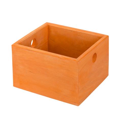 Ordnungskiste klein, orange lasiert H 12 x B 19...