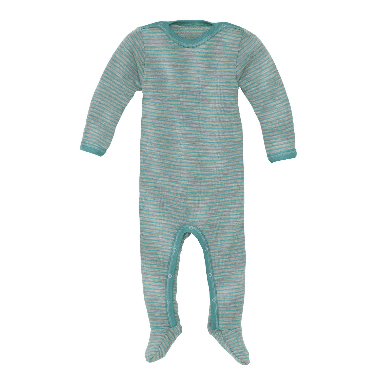 engel baby strampler aus bio wolle seide smaragd grau. Black Bedroom Furniture Sets. Home Design Ideas