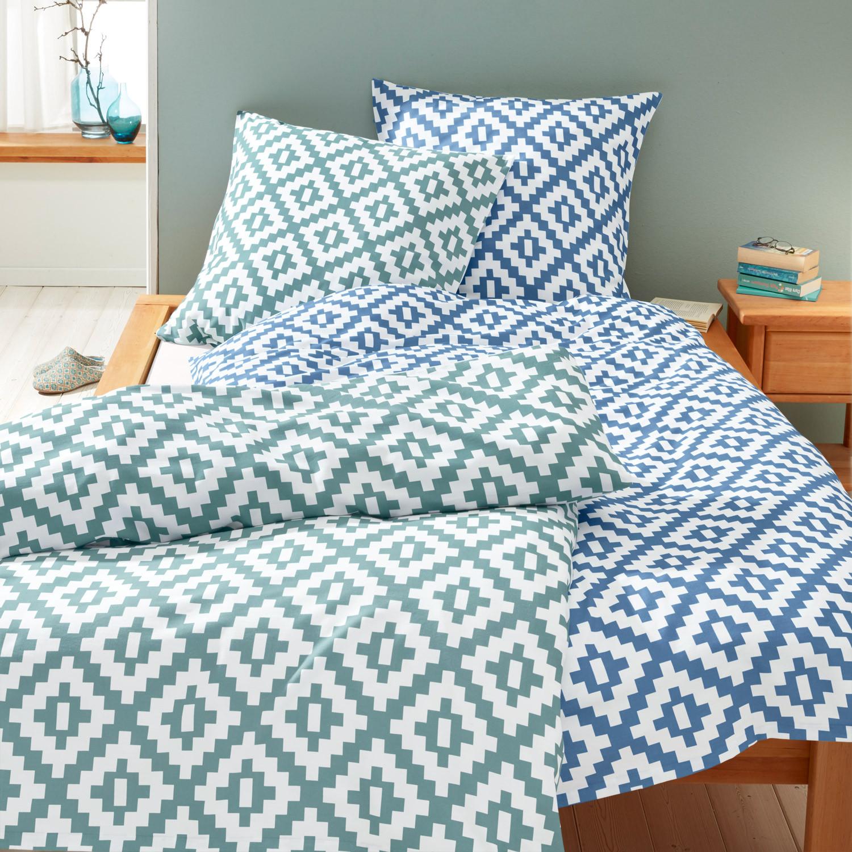satin bettw sche programm eisblau wei. Black Bedroom Furniture Sets. Home Design Ideas