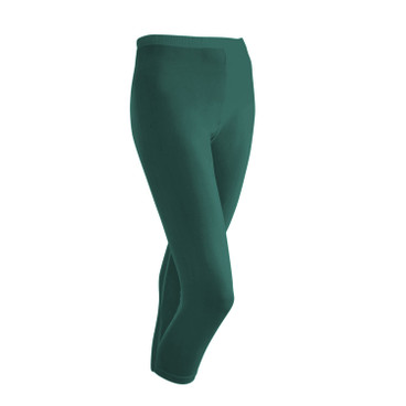 3/4-Seiden-Leggings, smaragd