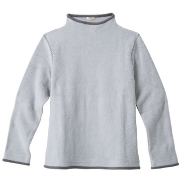 Fleece-Pullover, grau/anthrazit