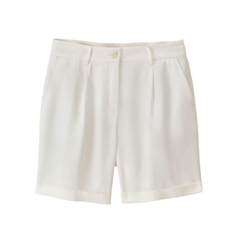 Short in Bundfaltenform aus TENCEL™, naturweiß