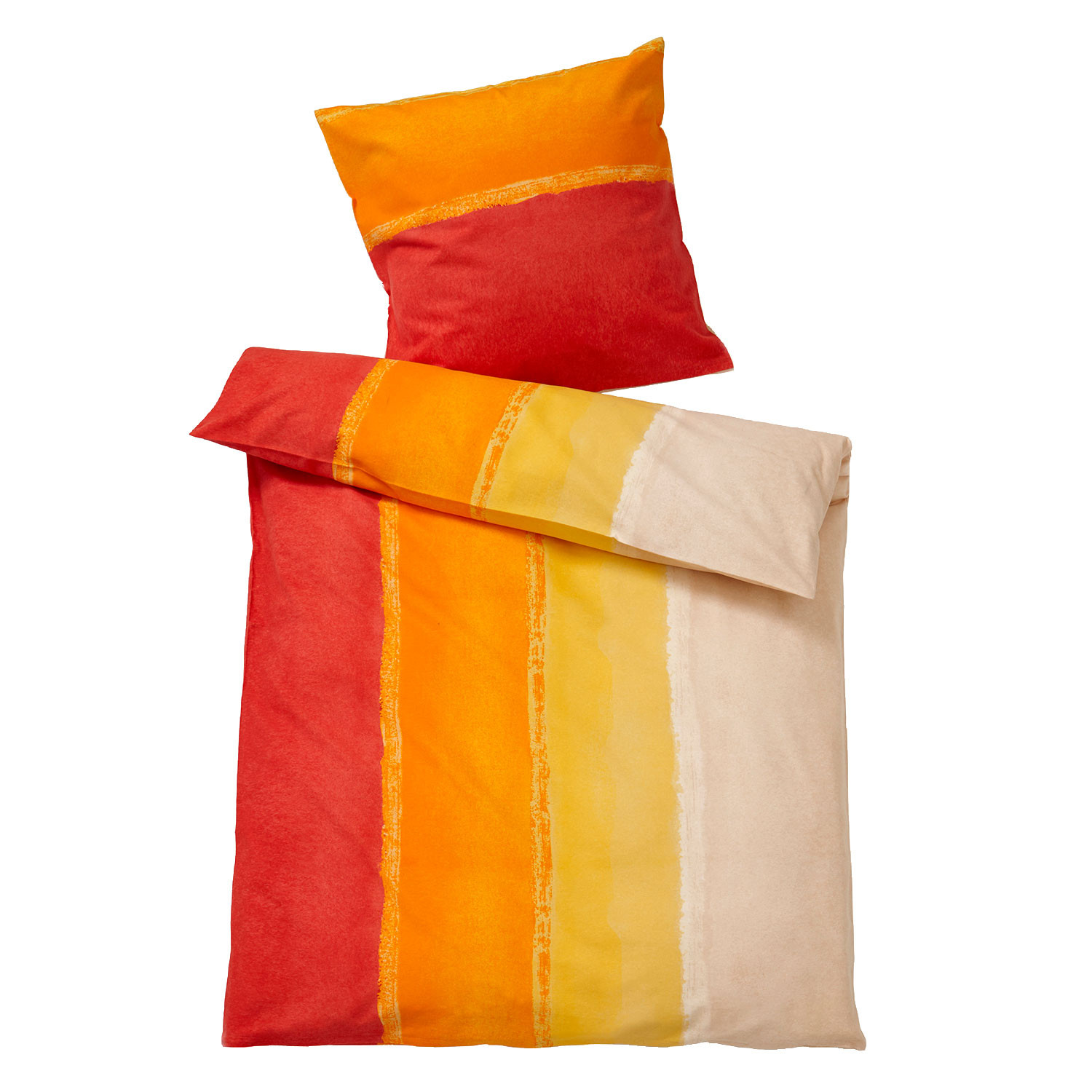 bio renforce bettw sche rot orange. Black Bedroom Furniture Sets. Home Design Ideas