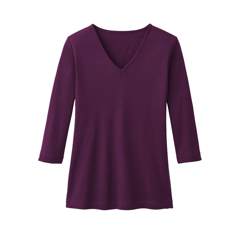 V-Shirt aus Bio Baumwolle, plum from Waschbär
