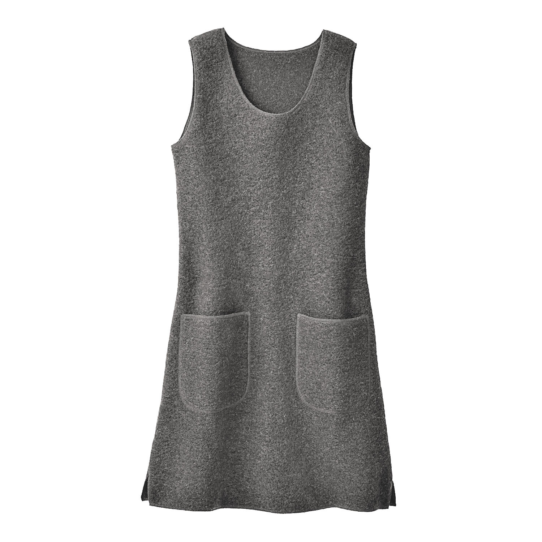 Kleid oder Tunika aus Wollwalk, anthrazit from Waschbär