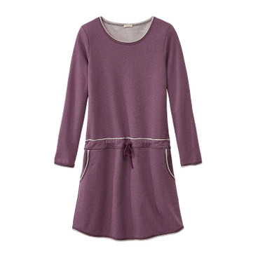 Sweatkleid, plum-melange