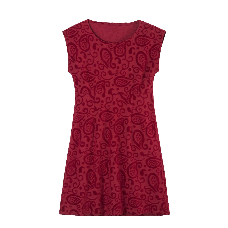 Nicki-Kleid mit Intarsien aus Bio-Baumwolle, kirsche from Waschbär