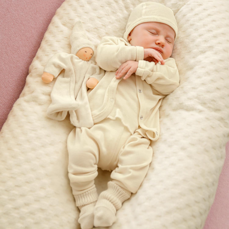 Engel Baby//Kinder Stehkragenshirt Bio-Schurwolle//Seide
