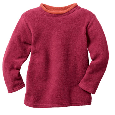 Sweatshirt aus Bio-Fleece, kirsche