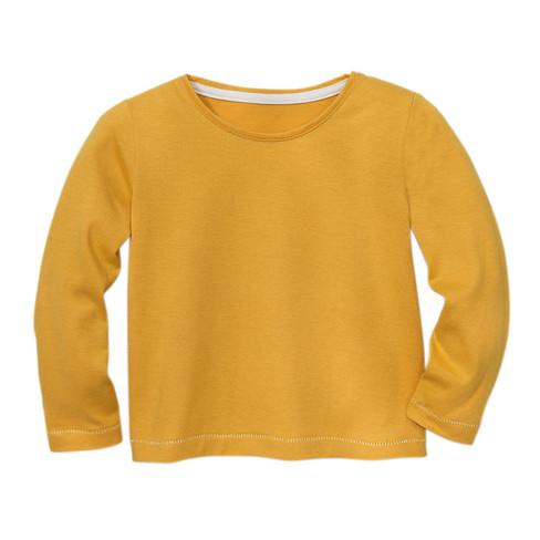 Langarmshirt aus Bio-Baumwolle, gelb