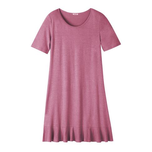 Jerseykleid aus Hanf mit Bio-Baumwolle, wildrose