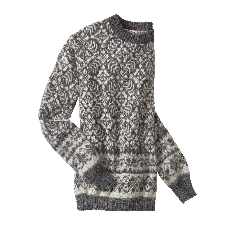 huge discount dad7a 30976 Norweger Pullover aus reiner Schurwolle, kiesel
