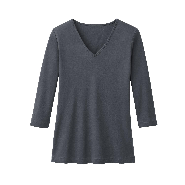 V-Shirt aus Bio Baumwolle, schiefer from Waschbär