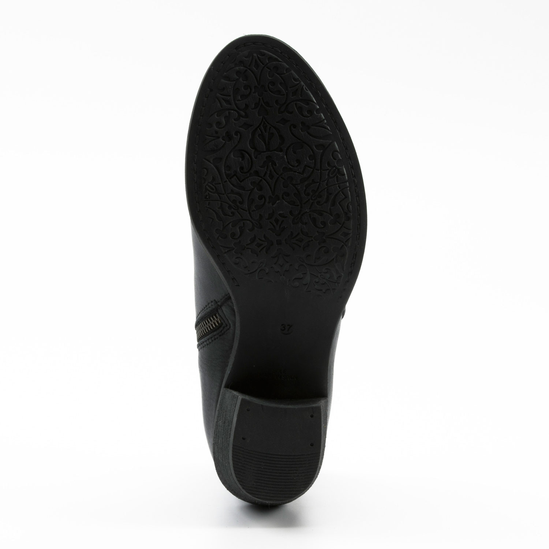 ankle boot aus bestem bio leder schwarz. Black Bedroom Furniture Sets. Home Design Ideas