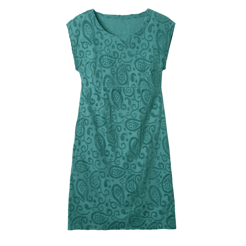 Nicki-Kleid mit Intarsien aus Bio-Baumwolle, smaragd from Waschbär