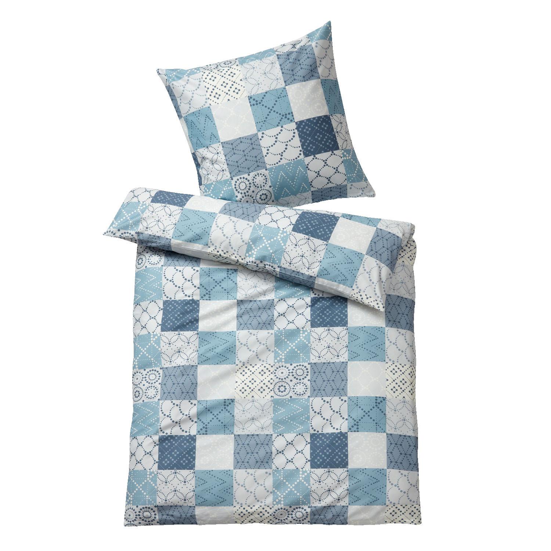 bio biber bettw sche garnitur 2 tlg rauchblau grau. Black Bedroom Furniture Sets. Home Design Ideas