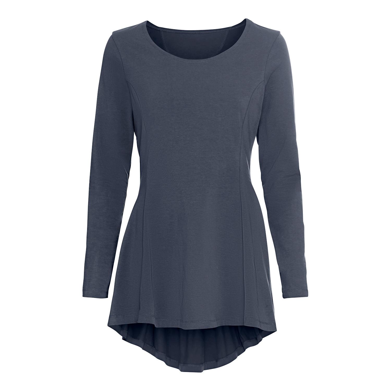 Jersey-Tunika mit Bogensaum, aus Bio Baumwolle, nachtblau from Waschbär