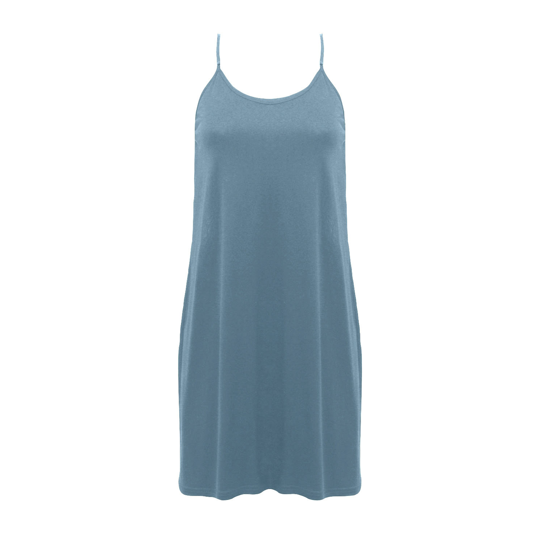 Seidenunterkleid und Nachthemd, rauchblau from Waschbär