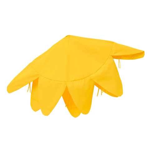 Deko-Haube groß, gelb - broschei