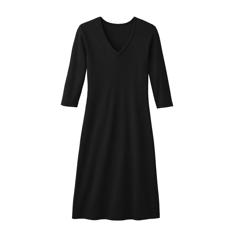Shirtkleid aus reiner Bio Baumwolle, schwarz from Waschbär