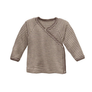 Baby-Wickelshirt, taupe/natur
